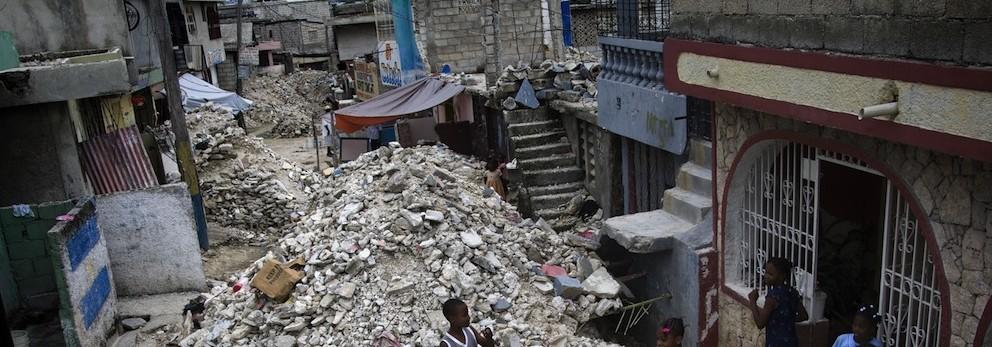 Eartquake Debris Continues to Clog Port-au-Prince Streets